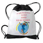 tennis Drawstring Bag