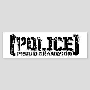 Police Proud Grandson Bumper Sticker