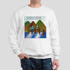 Contact Lenses as Fishing Lures Sweatshirt