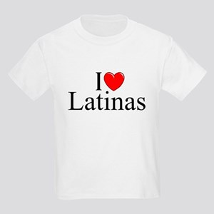 """I Love (Heart) Latinas"" Kids Light T-Shirt"