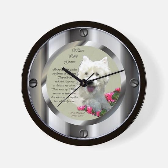 Westie Art Gifts Wall Clock