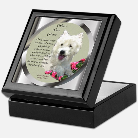 Westie Art Gifts Keepsake Box