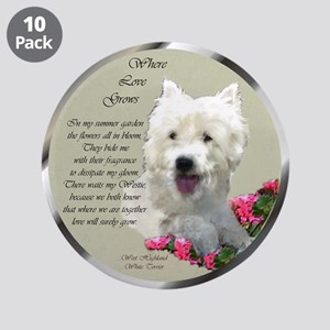 """Westie Art Gifts 3.5"""" Button (10 pack)"""