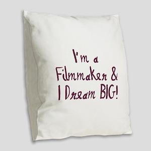 Filmmaker Burlap Throw Pillow