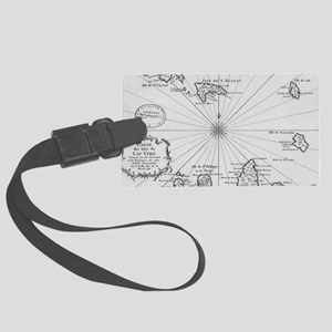 Vintage Map of Cape Verde (1746) Large Luggage Tag