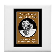 Jekyll Hyde 8 Ball Billiards Tile Coaster