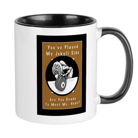 Jekyll Hyde 8 Ball Billiards Coffee Mug