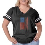 Just Stand Women's Plus Size Football T-Shirt