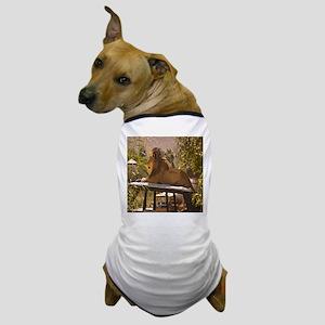 Lion on a Car Dog T-Shirt
