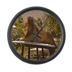Lion on a Car Large Wall Clock