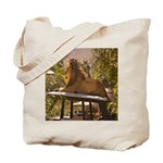 Lion on a Car Tote Bag