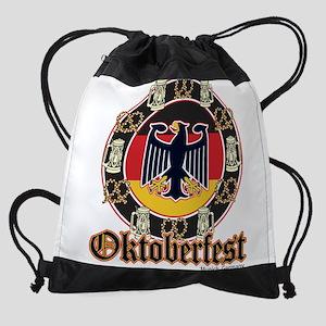 Oktoberfest Beer and Pretzels Drawstring Bag