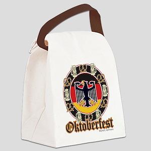 Oktoberfest Beer and Pretzels Canvas Lunch Bag