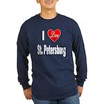 I Love St. Petersburg (Front) Long Sleeve Dark T-S
