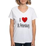 I Love St. Petersburg (Front) Women's V-Neck T-Shi