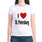 I Love St. Petersburg (Front) Jr. Ringer T-Shirt