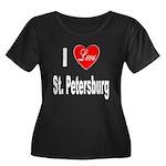 I Love St. Petersburg (Front) Women's Plus Size Sc