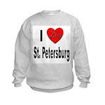 I Love St. Petersburg (Front) Kids Sweatshirt