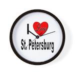 I Love St. Petersburg Wall Clock