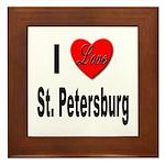 I Love St. Petersburg Framed Tile