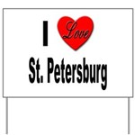 I Love St. Petersburg Yard Sign