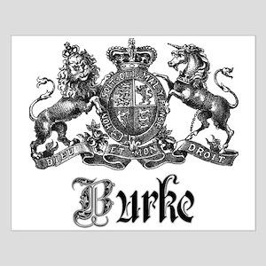 Burke Vintage Family Name Crest Small Poster