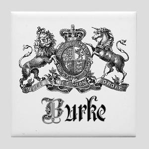 Burke Vintage Family Name Crest Tile Coaster