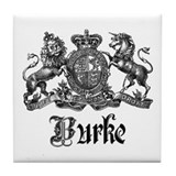 Burke coat arms Tile Coasters