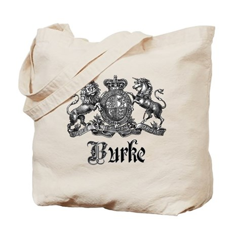 Burke Vintage Family Name Crest Tote Bag
