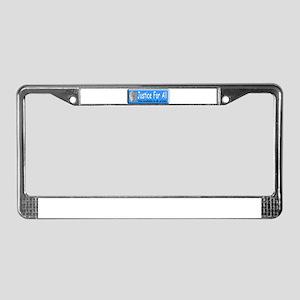 Justice License Plate Frame