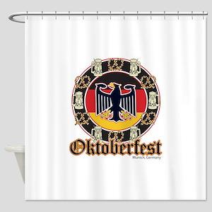 Oktoberfest Beer and Pretzels Shower Curtain