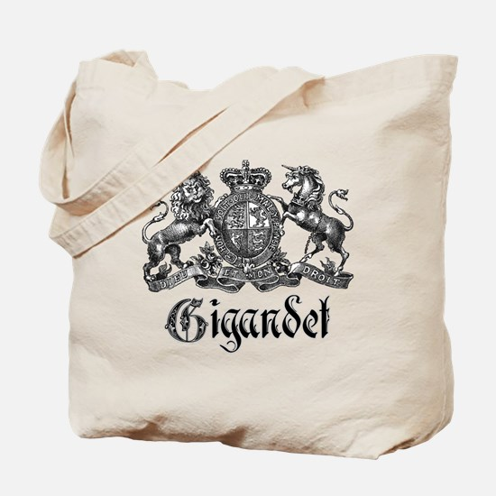 Gigandet Vintage Family Name Crest Tote Bag