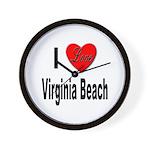 I Love Virginia Beach Wall Clock