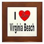 I Love Virginia Beach Framed Tile