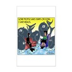 Saving Whales Mini Poster Print