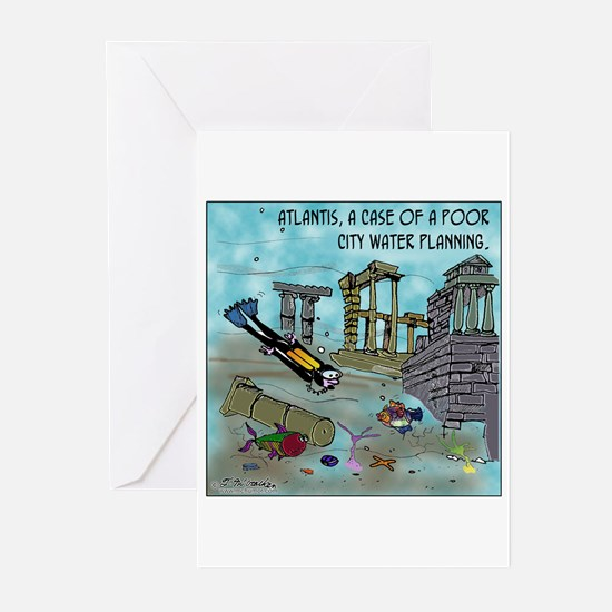 Atlantis Water Planning Greeting Cards (Pk of 20)