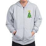 ILY Christmas Tree Zip Hoodie