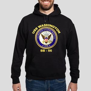 USS Washington BB 56 Hoodie (dark)