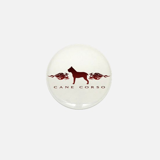 Cane Corso Flames Mini Button