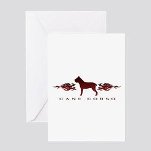Cane Corso Flames Greeting Card