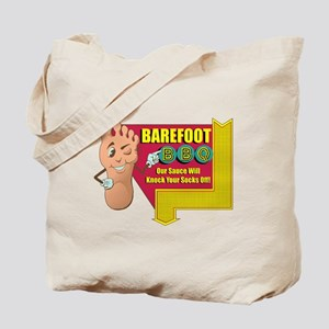 Barefoot BBQ Tote Bag