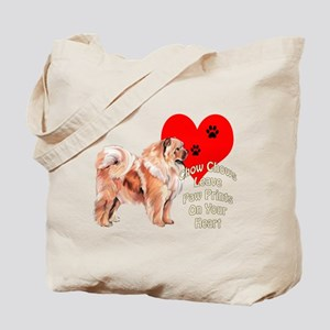 Chow Chow heart Tote Bag