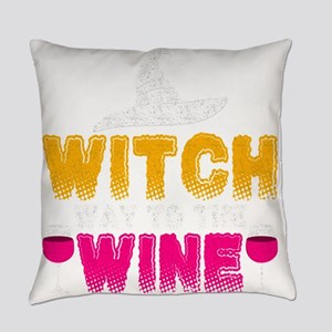 Witch Way To The Wine Everyday Pillow