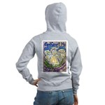 Serenity Prayer Angel Women's Zip Hoodie
