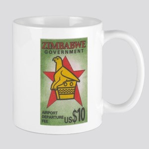 Zimbabwe airport tax stamp Mug