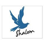 Shalom - Dove Small Poster