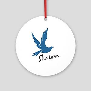 Shalom - Dove Ornament (Round)