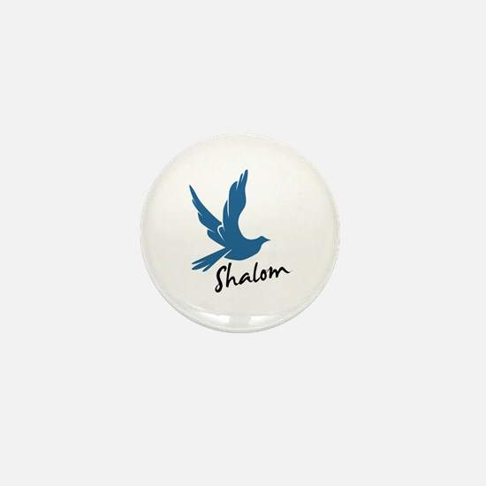 Shalom - Dove Mini Button