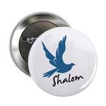 "Shalom - Dove 2.25"" Button (100 pack)"
