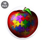 "Puzzle Apple 3.5"" Button (10 pack)"